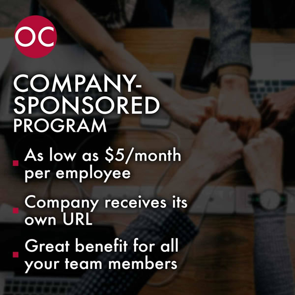 Ocinator Corporate Page Company sponsored 600x600