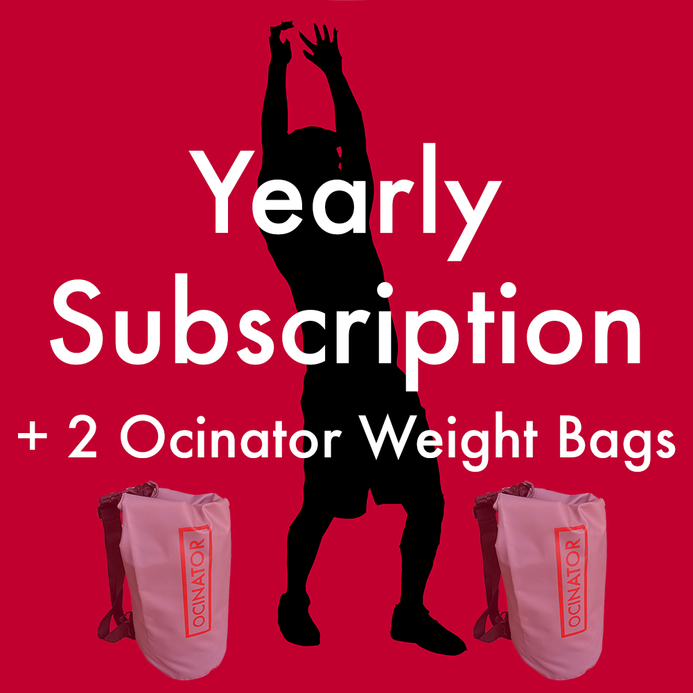 Ocinator Product Images yearly subsription +2 ocinator weight bags